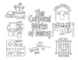 corporal works of mercy coloring page