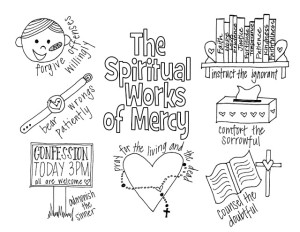 spiritual works of mercy coloring page